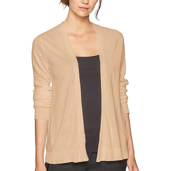 a437e790fc Women s Sag Harbor Tan Knit Cardigan XL NWT
